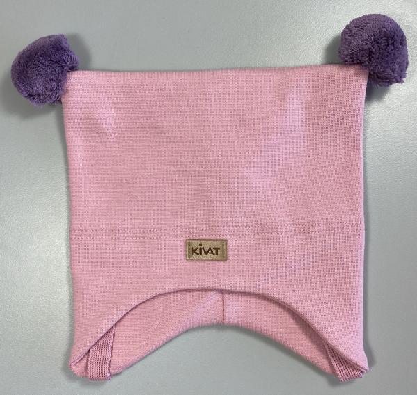 Bilde av lue bomull knytting lys rosa