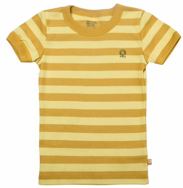Bilde av t-skjorte øko gul striper