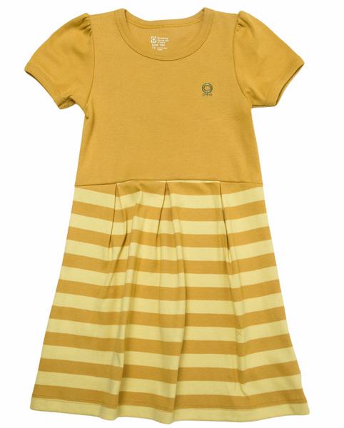 Bilde av kjole øko gul striper