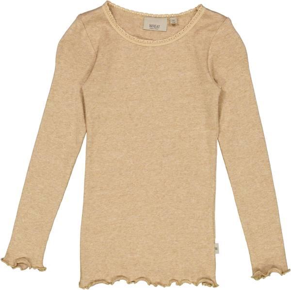 Bilde av genser rib lace sand melange