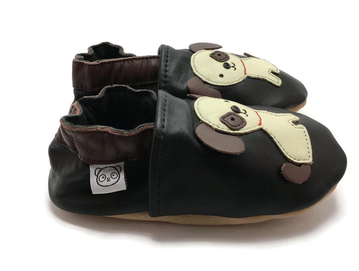 Tøffel hund sort panda feet